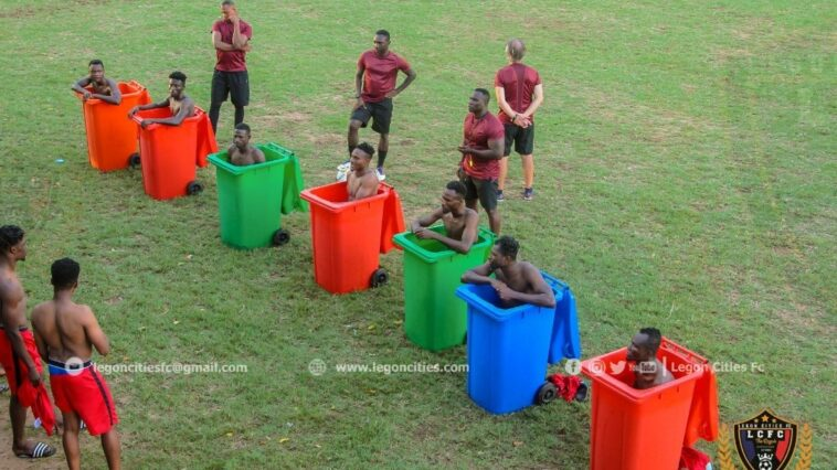 Legon Cities Players Icebath